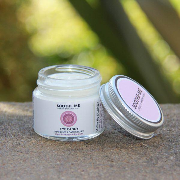 Organic under eye cream to reduce fine lines and dark circles