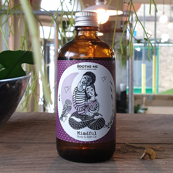 Calming lavender & geranium body oil, for dry skin