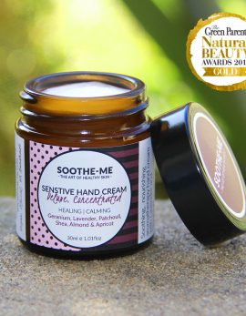 Award winning plant based hand cream for sry skin sensitive hands