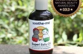Award winning organic baby oil