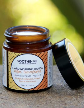 repairing organic hand cream with essential oils