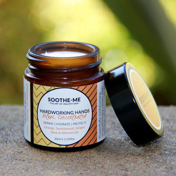 repairing organic hand cream with essential oils