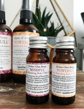 mini organic body and bath oils