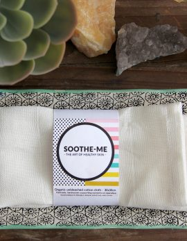 Fairtrade unbleached cotton reusable face cloth