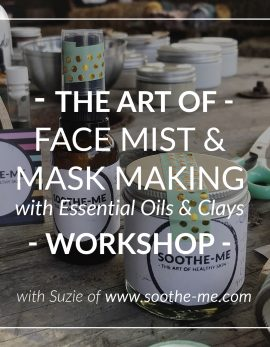 Learn the art of making natural skincare with essential oils