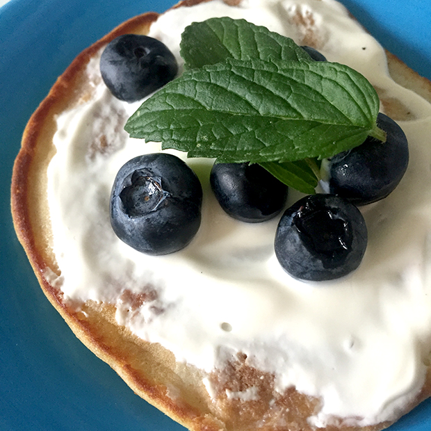 Gluten free & dairy free mini pancakes