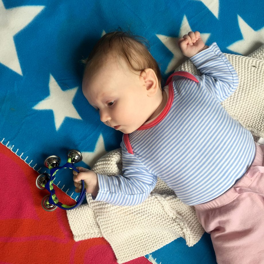 Sensory Toys for babies during baby massage courses