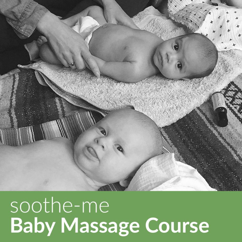 Book a baby massage course with Suzie of soothe-me