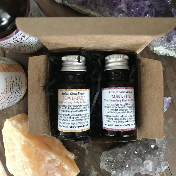 skincare minitures - organic aromatherapy body oils