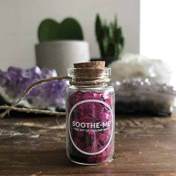Chunky pink biodegradable glitter