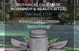 Skincare workshop Roving cafe London