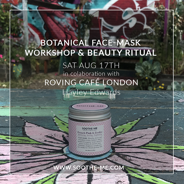 Skincare workshop Roving cafe London