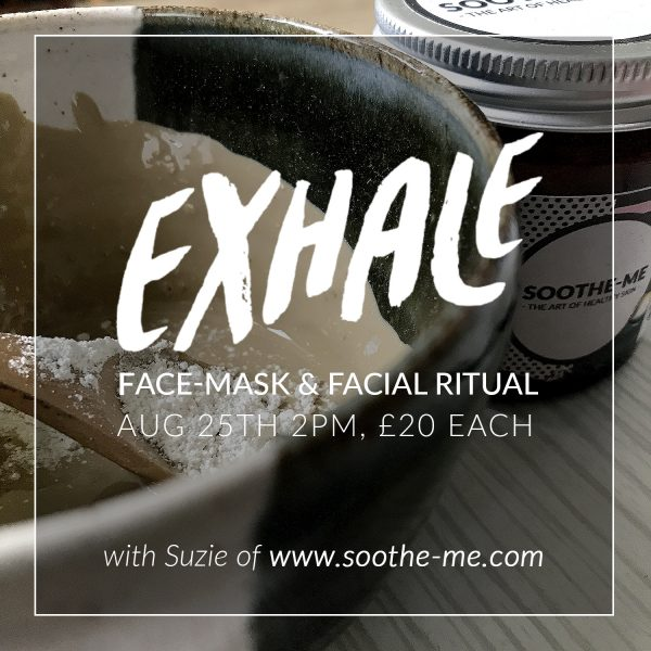 Face Mask and facial ritual workshop, Exhale festival