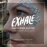 Exhale festival eco glitter makeup workshop