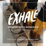 Mindful mists workshop Exhale festival