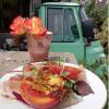 Freshly made vegan food, brick lane