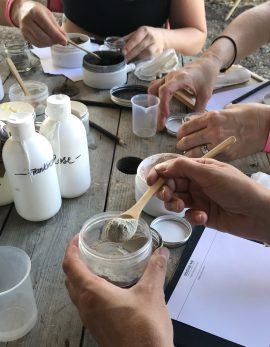 make you own clay face mask workshop