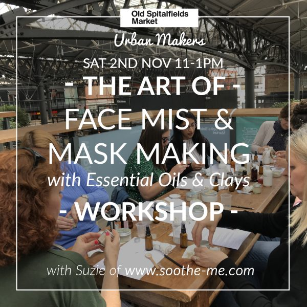 Natural skincare workshops and parties for events