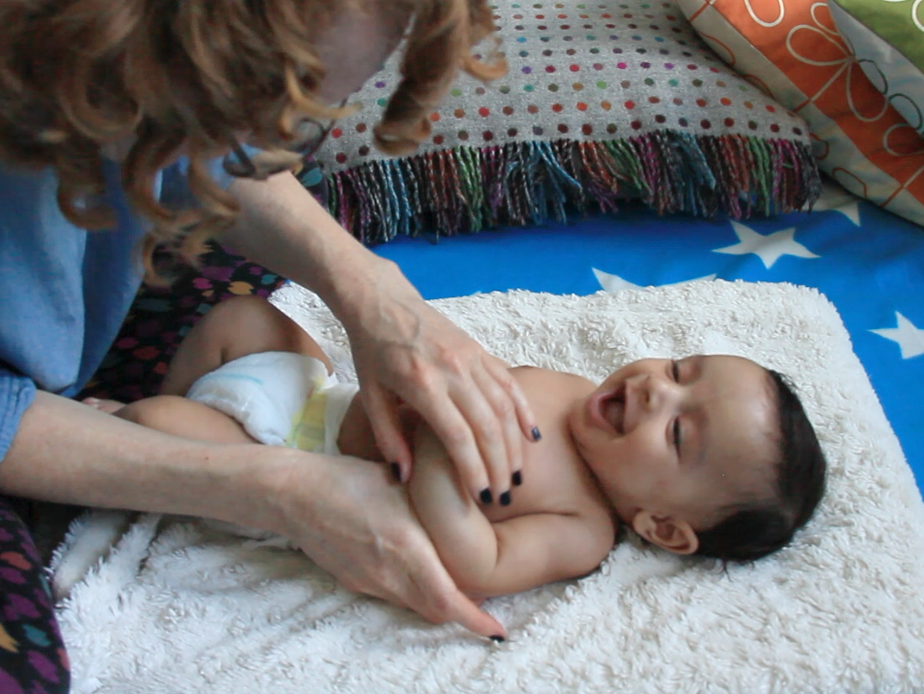 Baby Massage to ease colic, wind, reflux, with Suzie of soothe-me