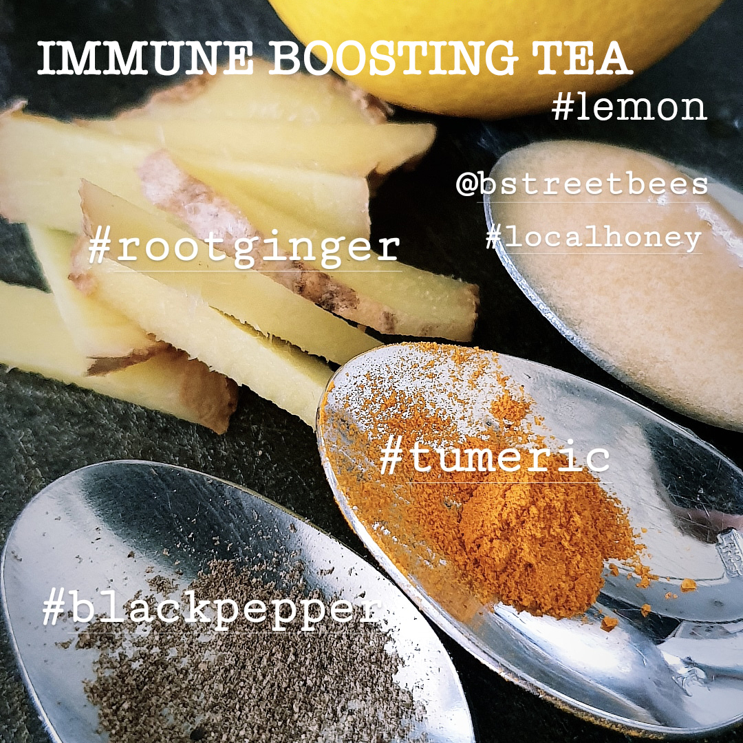 Immune boosting tea rich in Vitamin C