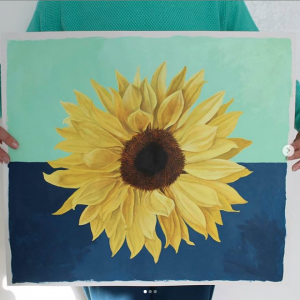 Sunflower painting by Nicola Sokel 2020