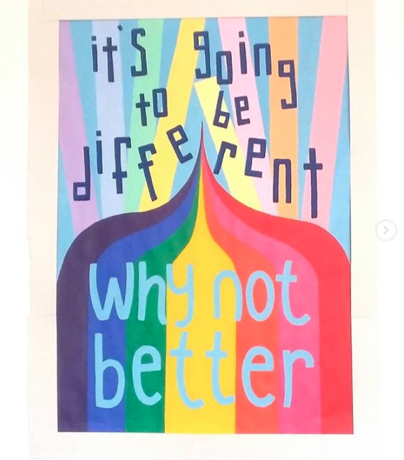 Different why not better artwork by Nicola Sokel