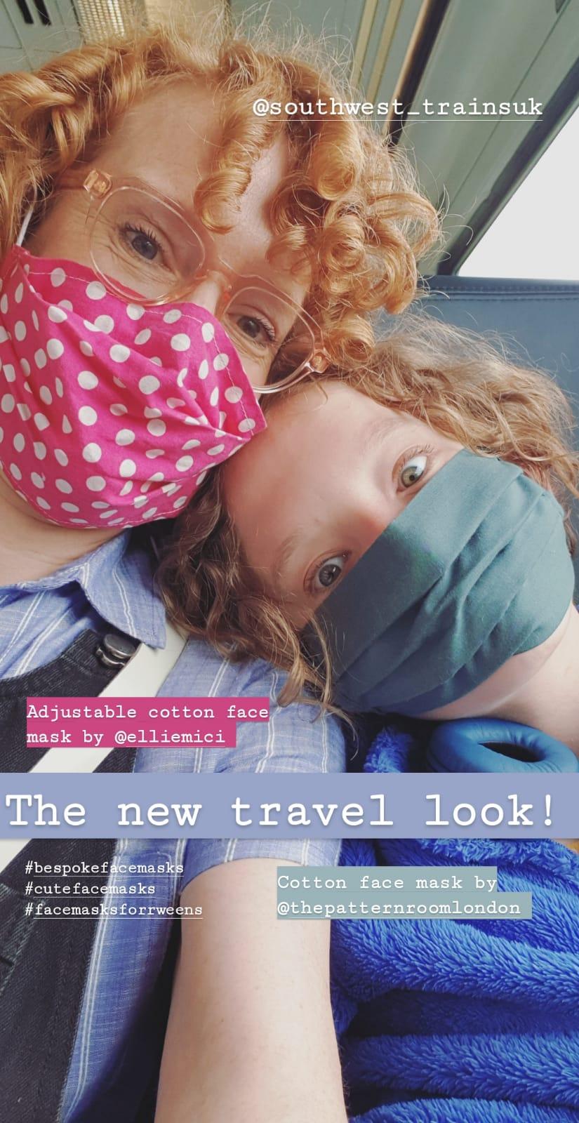 Cotton eco face masks for public transport