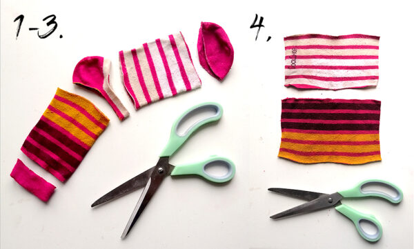 how to make DIY Face cloths from old socks