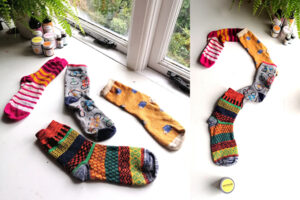 Up cycle old socks into face cloths
